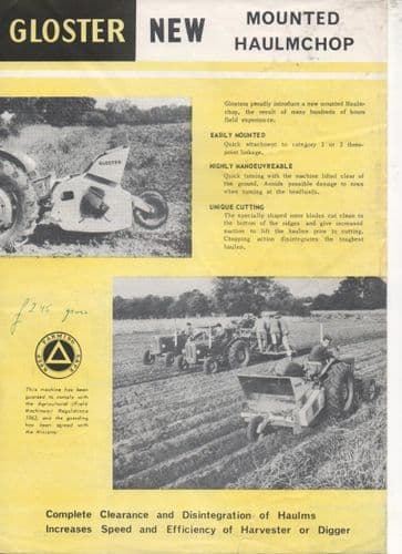 Gloster Mounted Haulmchop Brochure