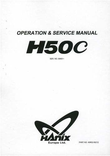 Hanix Excavator Manuals