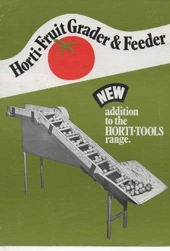 Horti-Tools Horti-Fruit Grader & Feeder Brochure