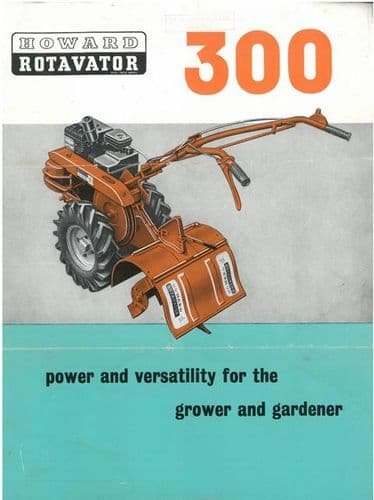 Howard 300 Rotavator Brochure