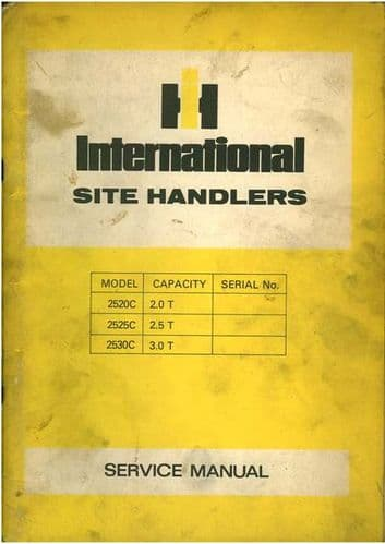 International 2520C 2525C 2530C Site Handler Forklift Operators Manual