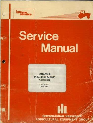 International Axial Flow Combine 1440 1460 1480 Workshop Service Manual