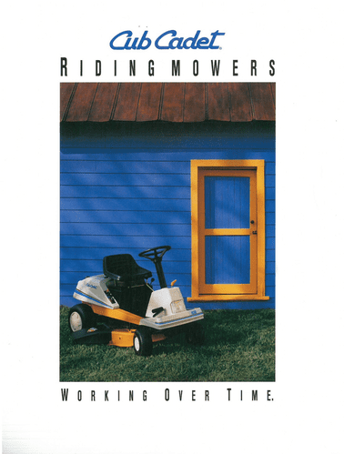 International Cub Cadet Riding Mower 1030 1238 Brochure