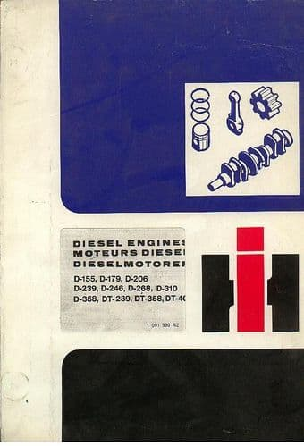 International Diesel Engine D155 D179 D206 D239 D246 D268 D310 D358 DT239 DT358 DT402 Parts Manual