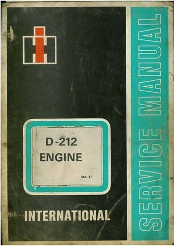 International Diesel Engine D212 Workshop Service Manual