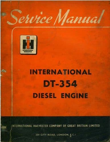 International Diesel Engine DT354, DT-354 Workshop Service Manual