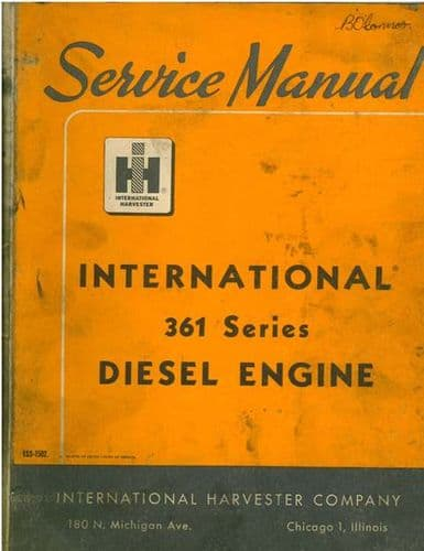 International Diesel Engines 361 Series Service Manual
