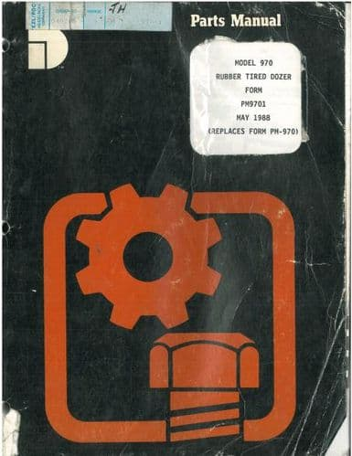 International Dresser 970 Rubber Tired Dozer Parts Manual