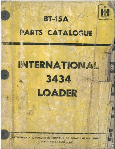 International Loader Tractor 3434 Parts Manual