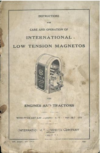 International Low Tension Magnetos Care, Operation and Service Manual