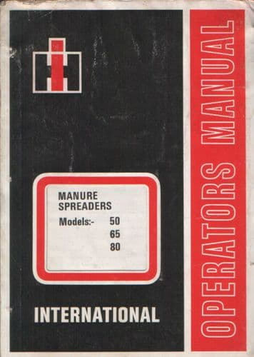 International Manure Spreader 50 65 80 Operators Manual