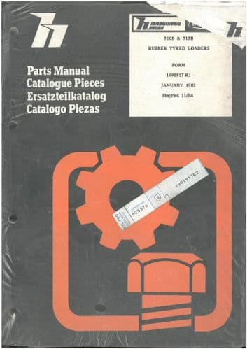 International PayLoader 510B 515B Loader Parts Manual