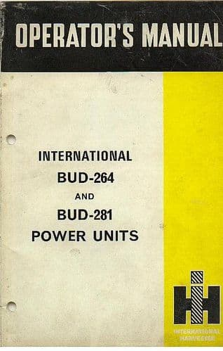 International Power Unit BUD-264 & BUD-281 Operators Manual