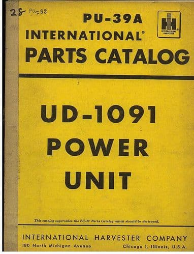International Power Unit UD-1091 Parts Manual