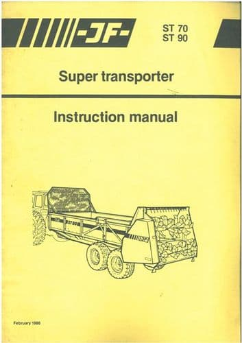 International Super Transporter Manure Spreader ST70 & ST90 Operators Manual