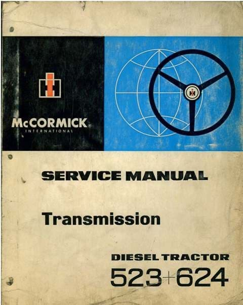 International Tractor 523 & 624 Transmission Workshop Service Manual