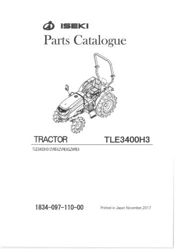 Iseki Tractor TLE3400H3 Parts Manual - TLE 3400 H3