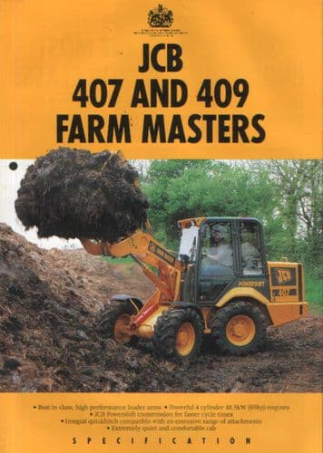 JCB Farm Master Powershift Loader 407 & 409 Brochure