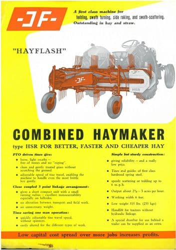 JF Hayflash Tedder, Swarth Turning, Side Raking & Swarth-Scattering Brochure