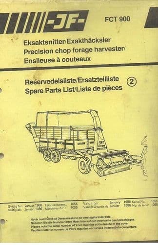 JF Precision Chop Forage Harvester FCT900 Parts Manual - Forager FCT 900