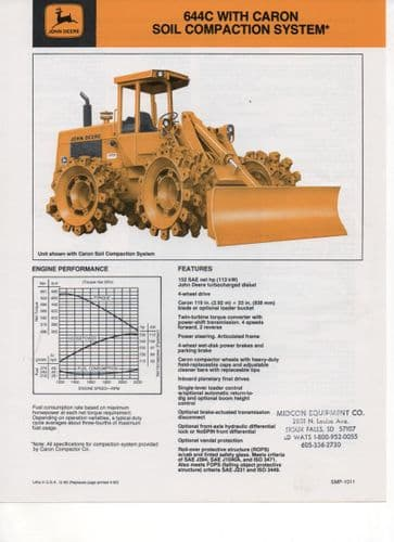 John Deere 644C with Caron Soil Compaction System Brochure