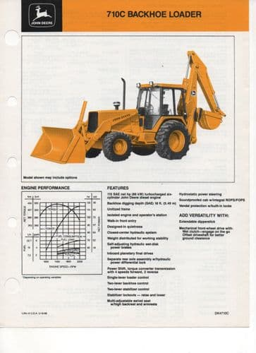 John Deere Backhoe Loader 710C Brochure