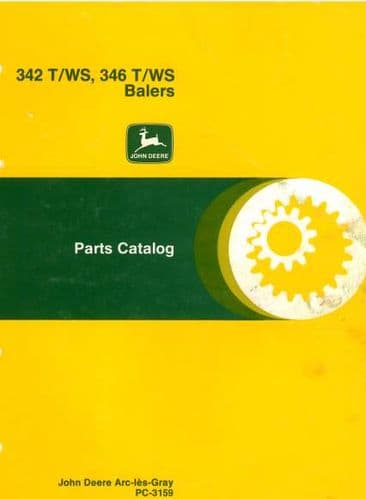 John Deere Baler 342 & 346 Twine and Wire Parts Manual