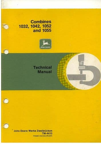 John Deere Combine 1032 1042 1052 1055 Workshop Service Manual