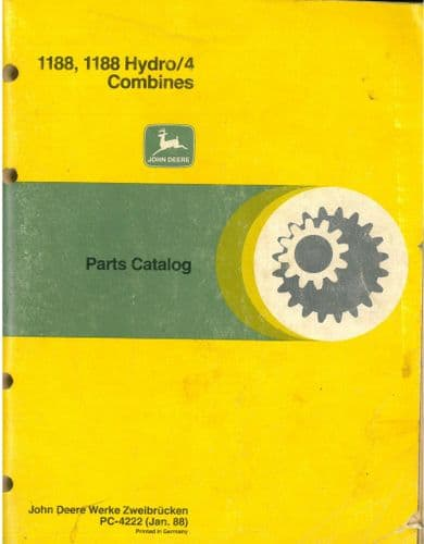 John Deere Combine 1188 & 1188 Hydro/4 Parts Manual