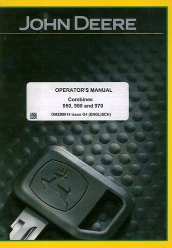 John Deere Combine 950 960 & 970 Operators Manual