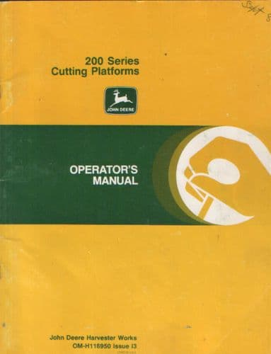 John Deere Combines 200 Series Cutting Platforms Operators Manual