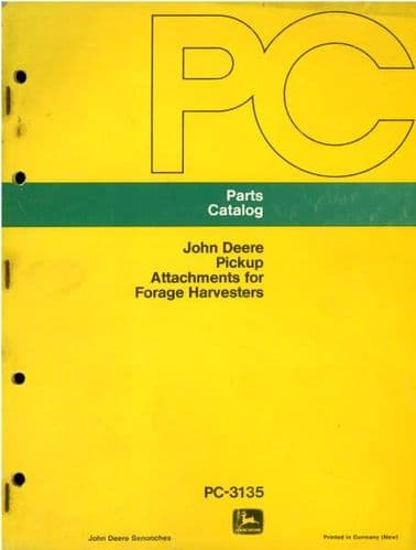 John Deere Pickup Attachments For Forage Harvester Parts Manual