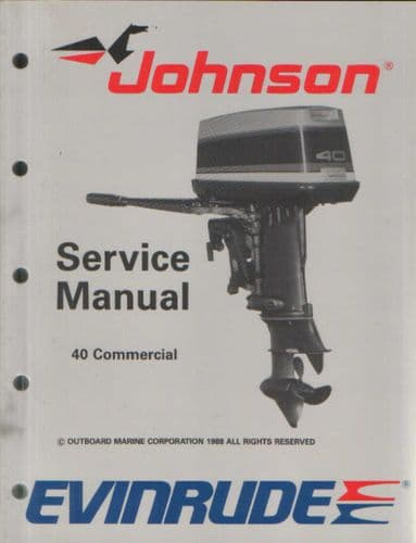 Johnson Evinrude 'CE' 40 Commercial Service Manual