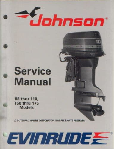 Johnson Evinrude 'CE' Cross V 88 thru 110 & 150 thru 175 Models Service Manual