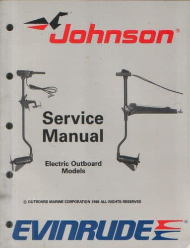 Johnson Evinrude 'CE' Electric Outboard Models Service Manual
