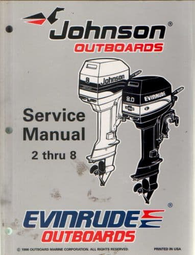 Johnson Evinrude 'EU' 2 thru 8 Models Service Manual