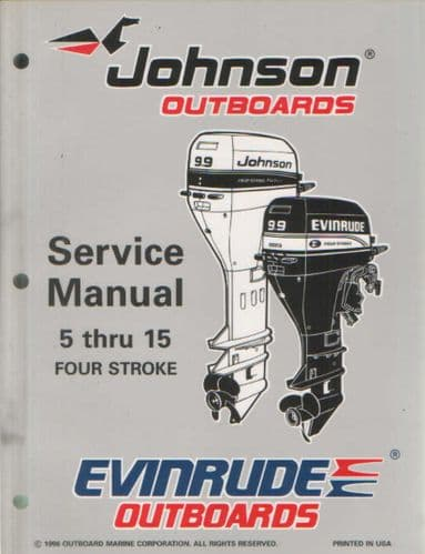 Johnson Evinrude 'EU' 5 thru 15 Models Service Manual - 4 Stroke