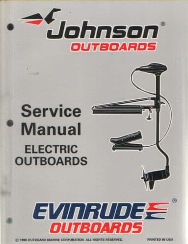 Johnson Evinrude 'EU' Electric Outboard Models Service Manual