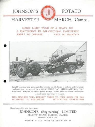 Johnsons Potato Harvester Brochure - G4