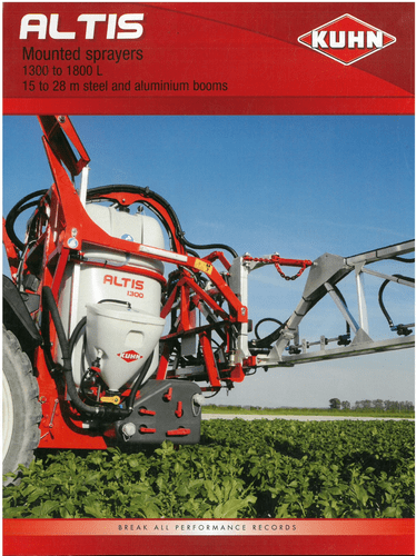 Kuhn Altis Mounted Sprayer 1300 to 1800 L Brochure - 1300-1600-1800