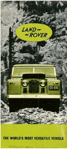 Land Rover The Worlds Most Versatile Vehicle Brochure