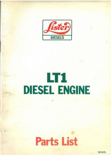 Lister Diesel Engine LT1 Parts Manual
