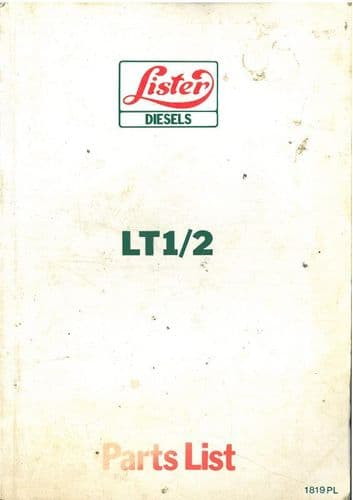 Lister Engine LT1 LT2 Parts Manual