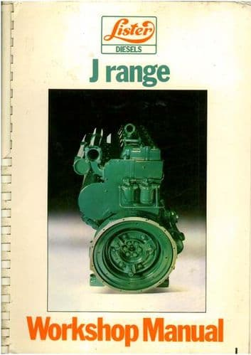 Lister Industrial & Marine Diesel Engine JA & JW Workshop Service Manual