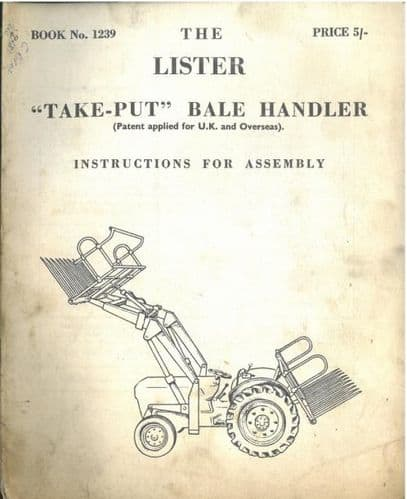 Lister Take Put Bale Hander Assembly Manual - ORIGINAL MANUAL
