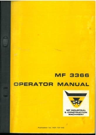 Massey Ferguson 3366 Crawler Dozer Loader Operators Manual - MF3366