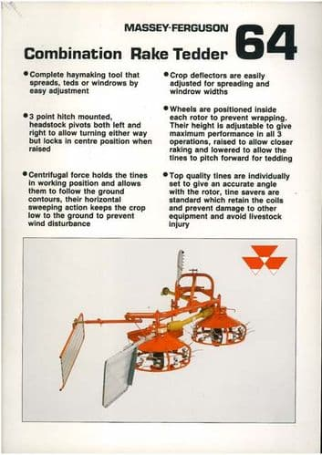 Massey Ferguson 64 Combination Rake Tedder Brochure