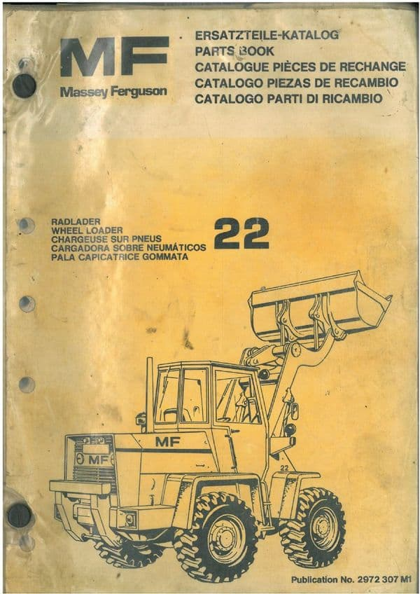 Massey Ferguson MF22 Wheel Loader Parts Manual - MF 22