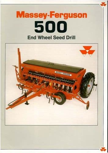 Massey Ferguson MF500 End Wheel Seed Drill Brochure - MF 500