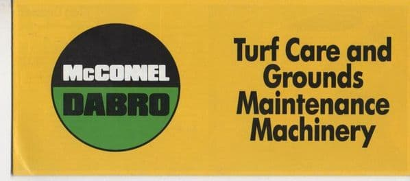 McConnel Dabro Turf Care and Grounds Maintenance Machinery  Brochure